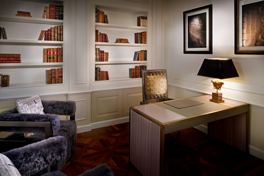 Palazzo Versace Dubai Hotel - Jaddaf Waterfront, Dubai, UAE - Modern Imperial Suite Library