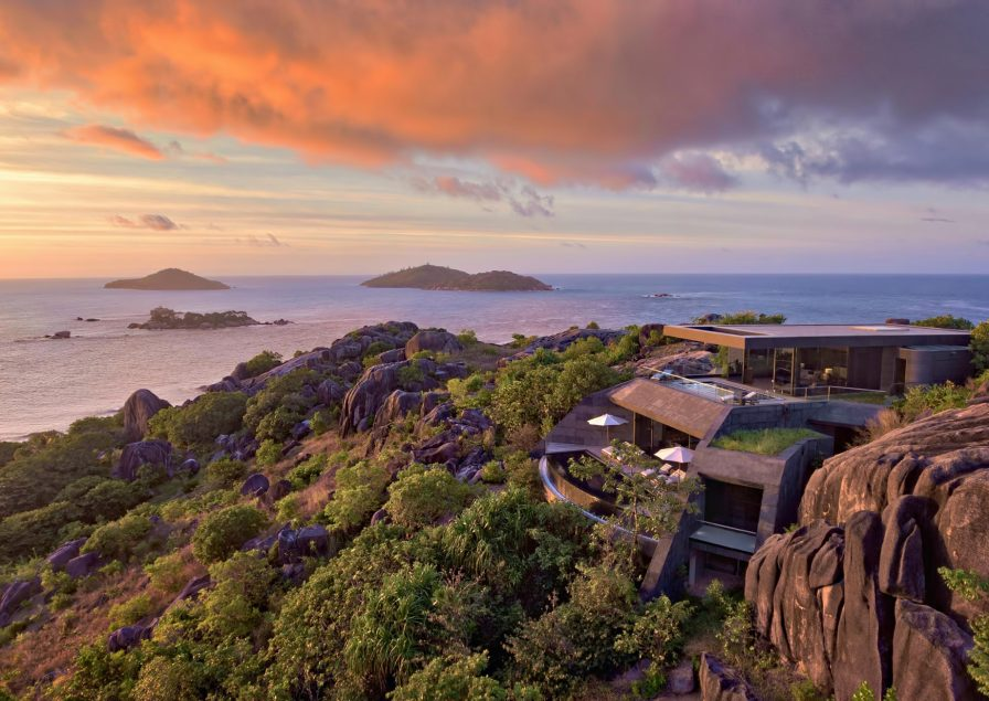 Six Senses Zil Pasyon Luxury Resort - Felicite Island, Seychelles - Three Bedroom Residence Sunset Island View