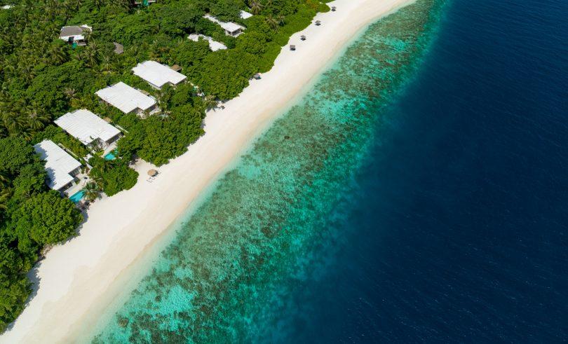 Amilla Fushi Luxury Resort and Residences - Baa Atoll, Maldives - Ocean Beach House Aerial