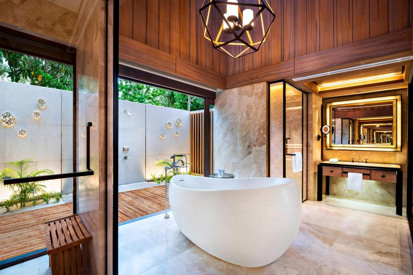 The St. Regis Maldives Vommuli Luxury Resort - Dhaalu Atoll, Maldives - Beach Villa with Pool Bathroom