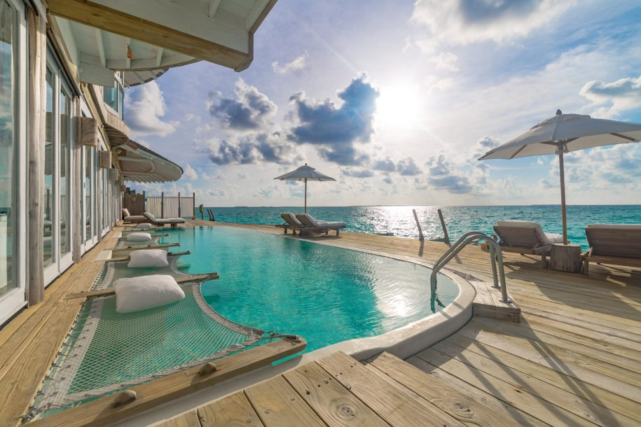 Soneva Jani Luxury Resort - Noonu Atoll, Medhufaru, Maldives - 3 Bedroom Water Reserve Villa with Slide Pool Decl Ocean View