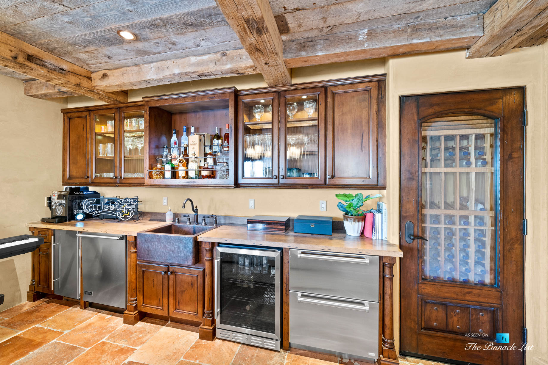 216 7th St, Manhattan Beach, CA, USA – Luxury Real Estate – Coastal Villa Home – Recreation Room Bar