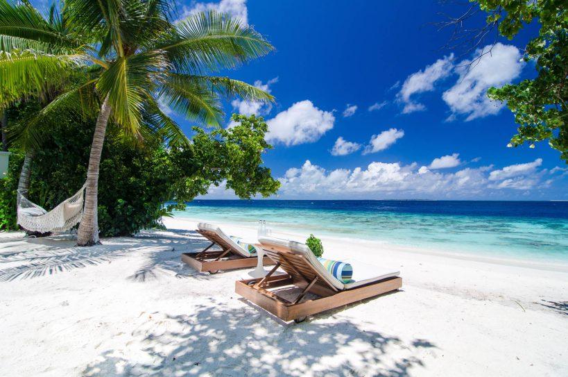 Amilla Fushi Luxury Resort and Residences - Baa Atoll, Maldives - Beachfront Sun Chairs