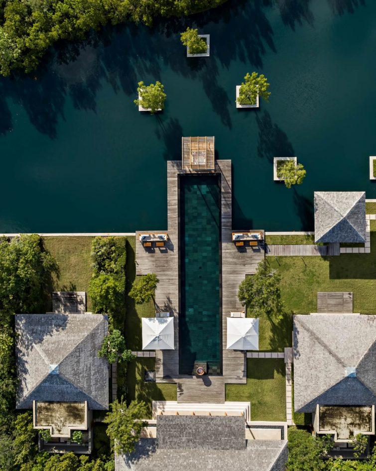 Amanyara Luxury Resort - Providenciales, Turks and Caicos Islands - 4 Bedroom Tranquility Villa Pool Overhead Aerial
