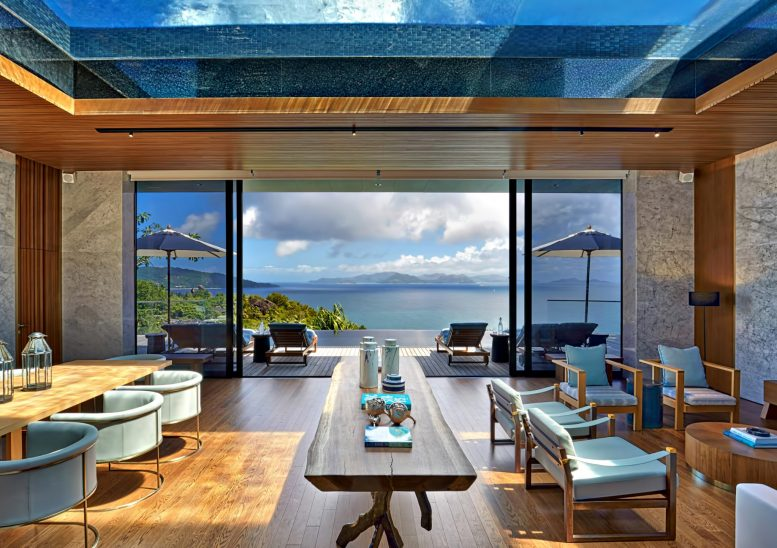Six Senses Zil Pasyon Luxury Resort - Felicite Island, Seychelles - Four Bedroom Residence Living and Dining Room