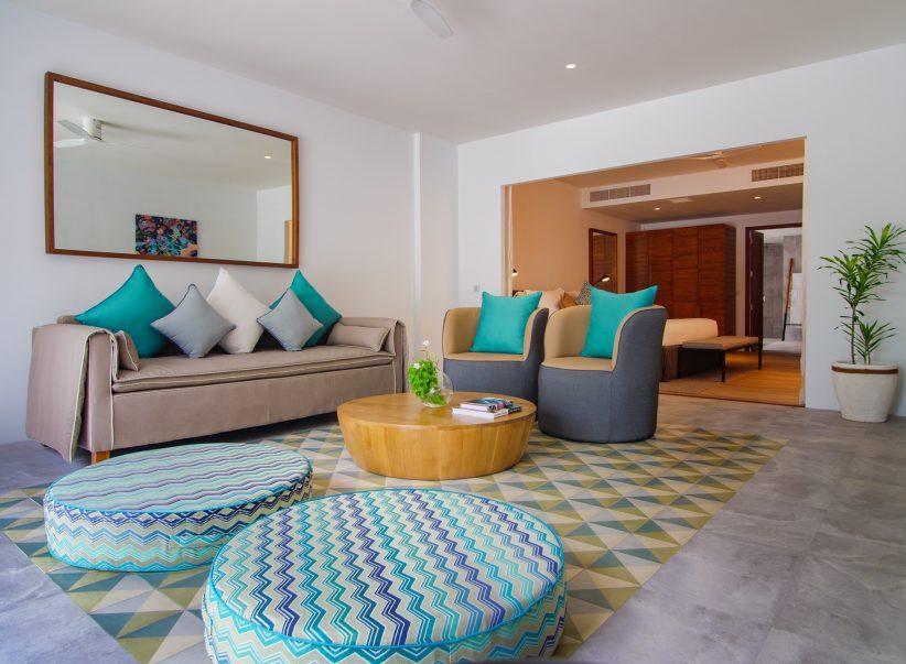 Amilla Fushi Luxury Resort and Residences - Baa Atoll, Maldives - Beach Villa Living Area