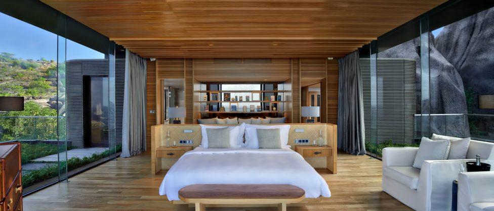 Six Senses Zil Pasyon Luxury Resort - Felicite Island, Seychelles - Four Bedroom Residence Master Bedroom