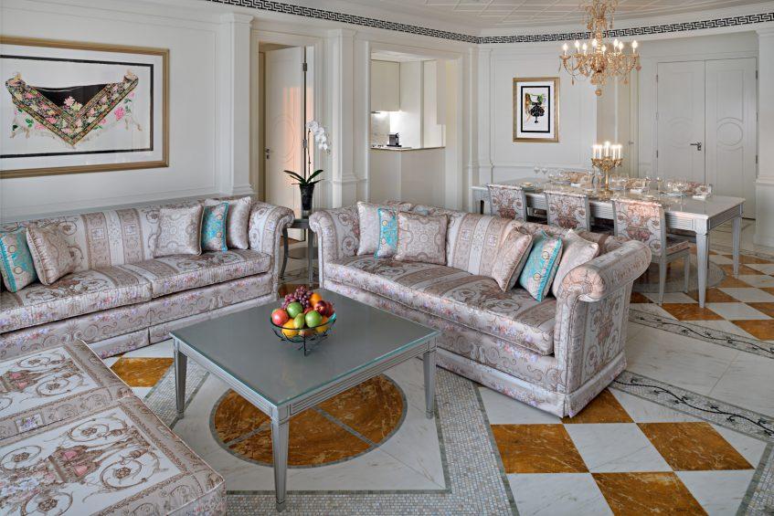 Palazzo Versace Dubai Hotel - Jaddaf Waterfront, Dubai, UAE - 2 Bedroom Residence Living Area