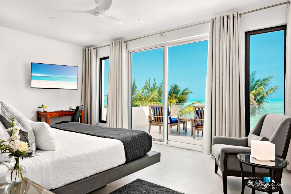 Tip of the Tail Luxury Villa - Providenciales, Turks and Caicos Islands - Master Bedroom and Deck