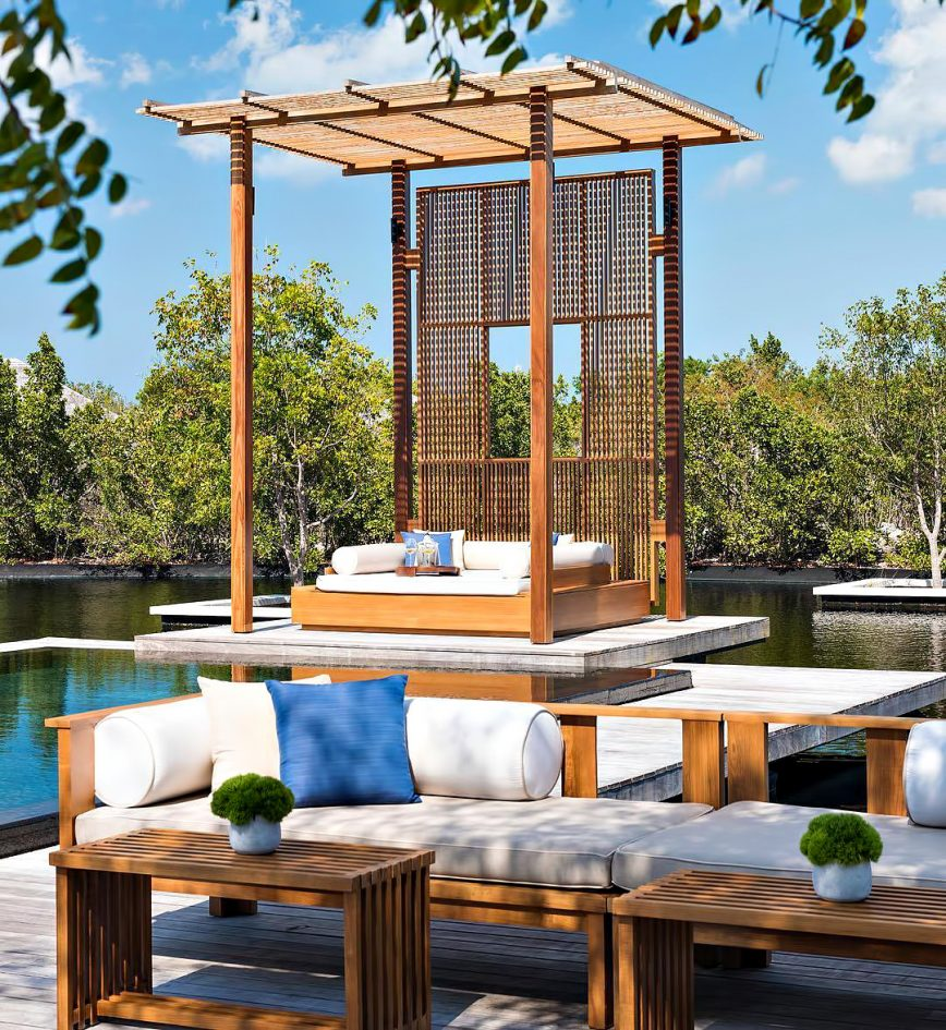 Amanyara Luxury Resort - Providenciales, Turks and Caicos Islands - 4 Bedroom Tranquility Villa Infinity Pool Lounge Chairs