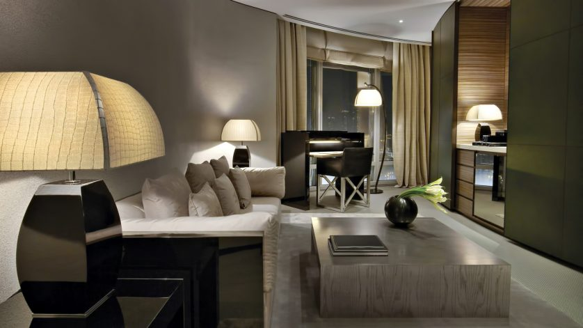 Armani Hotel Dubai - Burj Khalifa, Dubai, UAE - Armani Fountain Suite With Balcony
