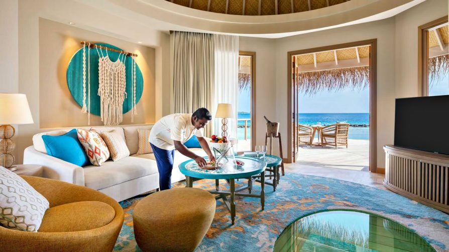 The Nautilus Maldives Luxury Resort - Thiladhoo Island, Maldives - Ocean Residence Living Room