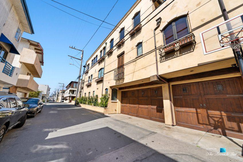 216 7th St, Manhattan Beach, CA, USA - Luxury Real Estate - Coastal Villa Home - House Rear Garage View