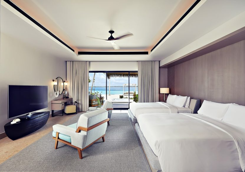 Waldorf Astoria Maldives Ithaafushi Luxury Resort - Ithaafushi Island, Maldives - Resort Private Island Villa Bedroom
