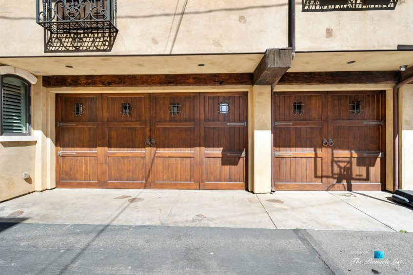 216 7th St, Manhattan Beach, CA, USA - Luxury Real Estate - Coastal Villa Home - House Rear Garage Doors