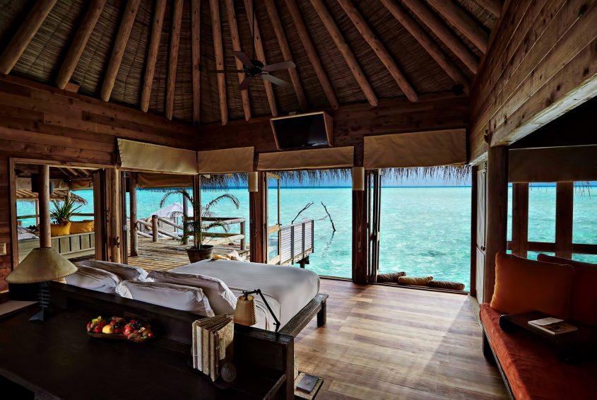 Gili Lankanfushi Luxury Resort - North Male Atoll, Maldives - Overwater Villa Bedroom Ocean View