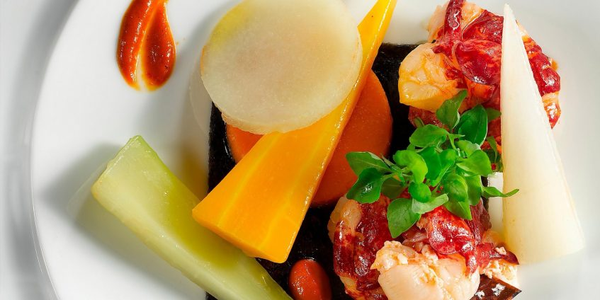 aInterContinental Bordeaux Le Grand Hotel - Bordeaux, France - Lobster with Salted Butter and Vegetables