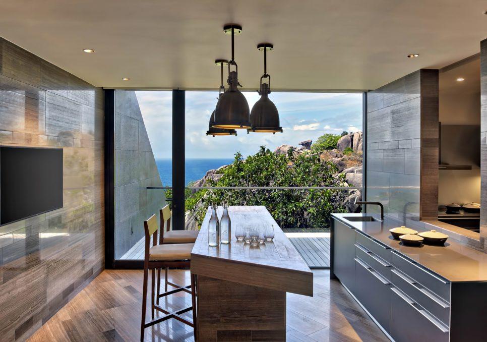 Six Senses Zil Pasyon Luxury Resort - Felicite Island, Seychelles - Four Bedroom Residence Kitchen