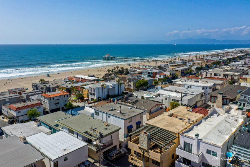 216 7th St, Manhattan Beach, CA, USA - Luxury Real Estate - Coastal Villa Home - Drone Aerial House Beach Oceanview