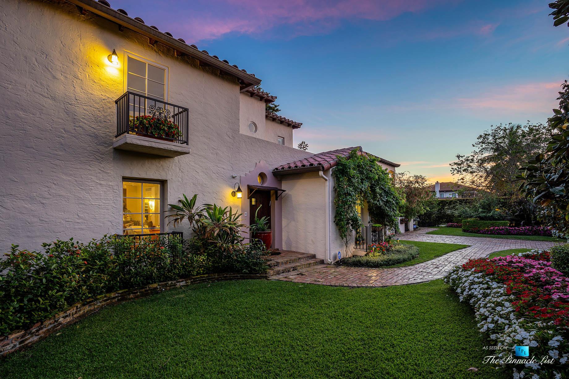 888 Oleander St, Boca Raton, FL, USA – Luxury Real Estate – Old Floresta Estate Home – Sunset House Front Door View