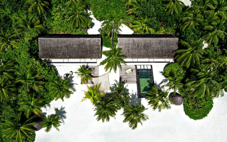 One&Only Reethi Rah Luxury Resort - North Male Atoll, Maldives - Two Villa Residence with Pool Aerial