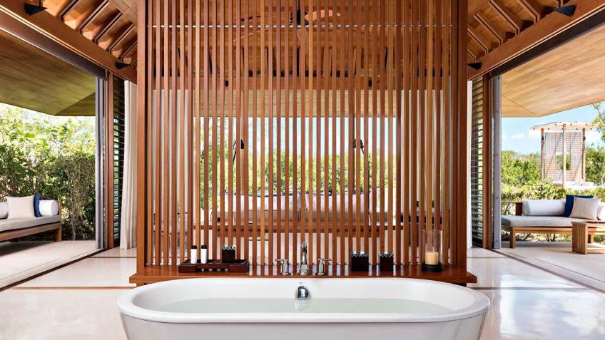 Amanyara Luxury Resort - Providenciales, Turks and Caicos Islands - 4 Bedroom Tranquility Villa Bathroom