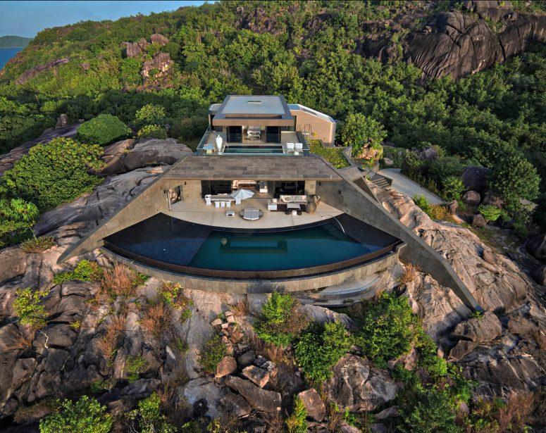 Six Senses Zil Pasyon Luxury Resort - Felicite Island, Seychelles - Private Four Bedroom Residence Exterior