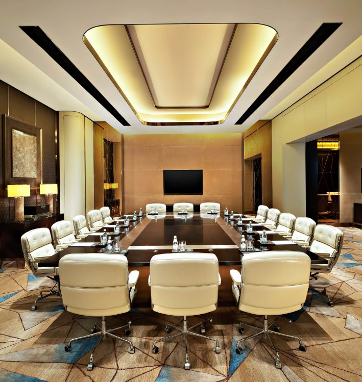 The St. Regis Shenzhen Luxury Hotel - Shenzhen, China - Meeting Boardroom
