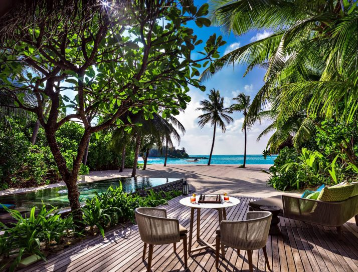 One&Only Reethi Rah Luxury Resort - North Male Atoll, Maldives - Beachront Villa Residence Pool View