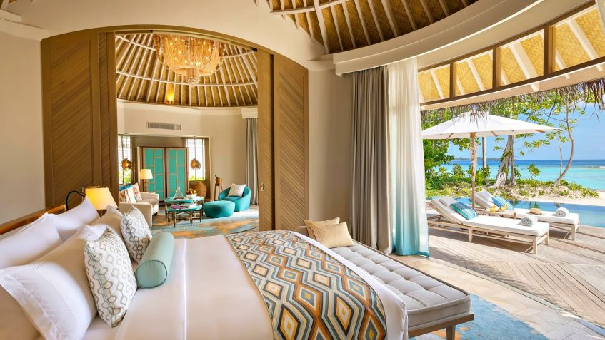 The Nautilus Maldives Luxury Resort - Thiladhoo Island, Maldives - Beach House Master Bedroom
