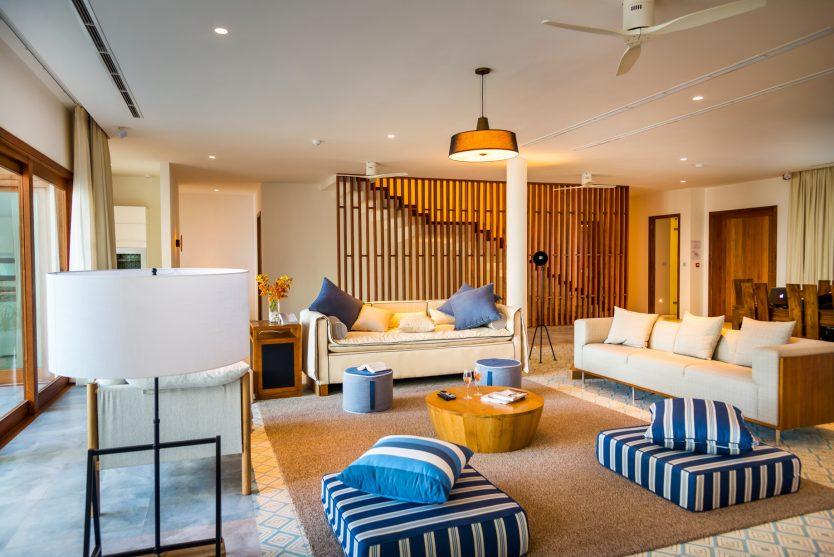 Amilla Fushi Luxury Resort and Residences - Baa Atoll, Maldives - Oceanfront Beach Villa Living Room