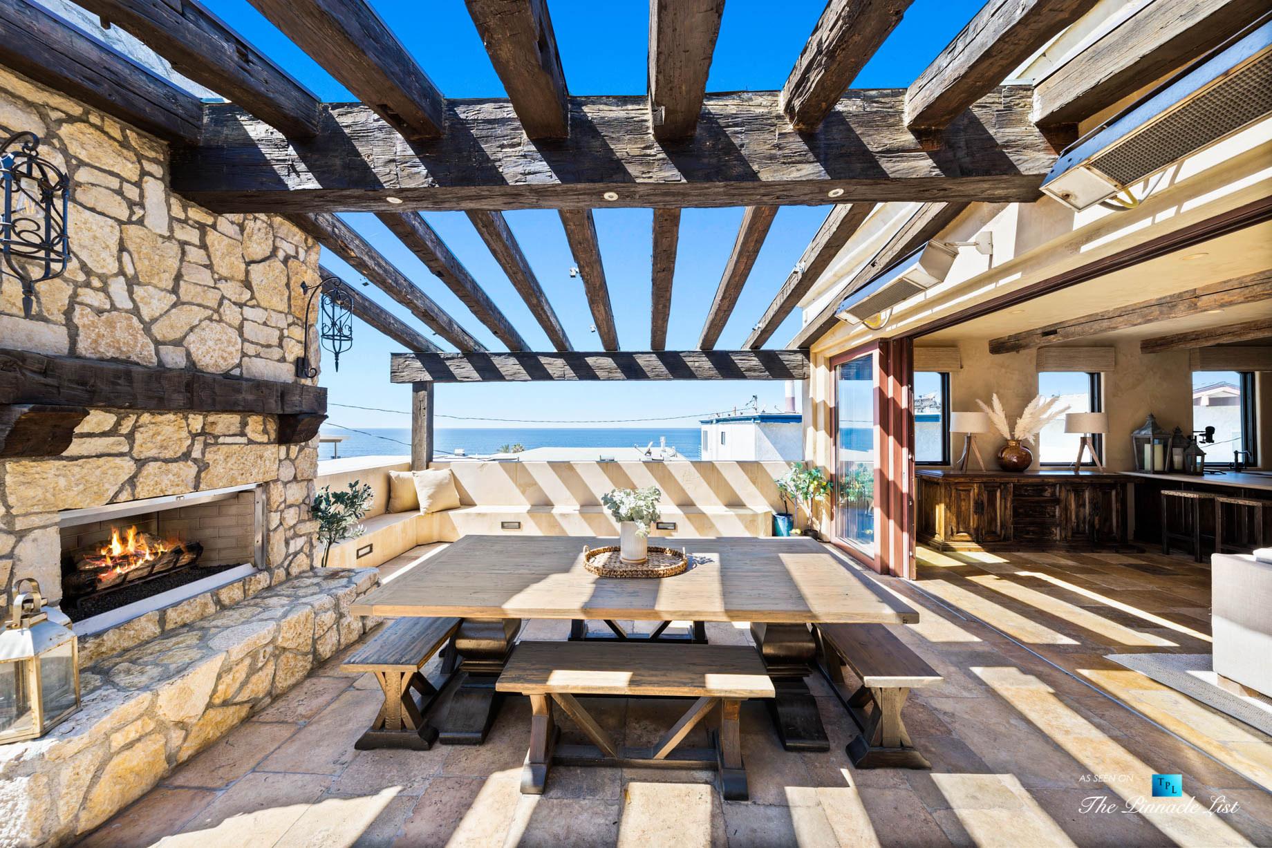 Authentic Luxury Coastal Villa – 216 7th St, Manhattan Beach, CA, USA – Exterior Ocean View Lounge Deck