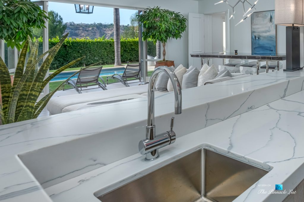 Beverly Hills Italian Villa Hilltop Estate - 2720 Ellison Dr, Beverly Hills, CA, USA - Entertainment Room Bar