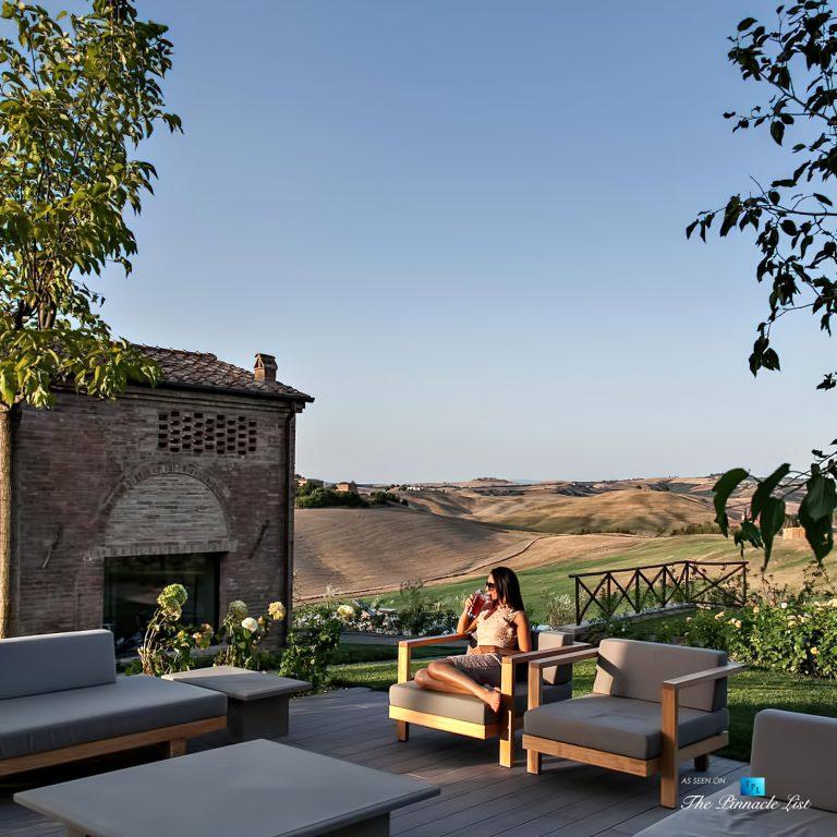 aHistoric Tuscan Villa – Podere Panico Estate, Monteroni d'Arbia, Siena, Tuscany, Italy – Outdoor Deck