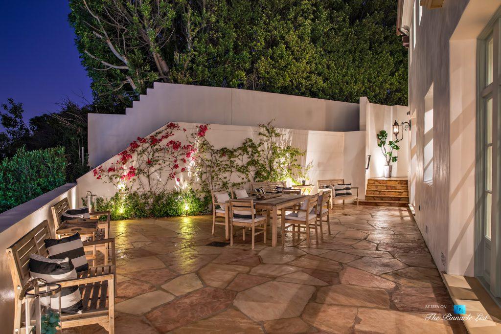 Hollywood Hills Luxury Estate - 9240 Robin Dr, Los Angeles, CA, USA - Night Rear Deck