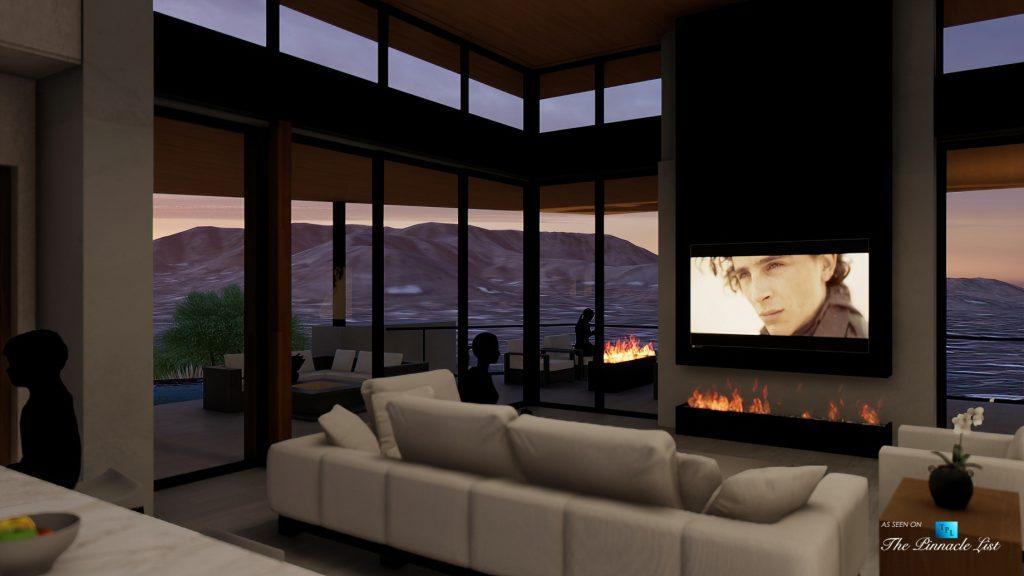 Mummy Mountain Luxury Residence - 5221 E Cheney Dr, Paradise Valley, AZ, USA - Living Room Night