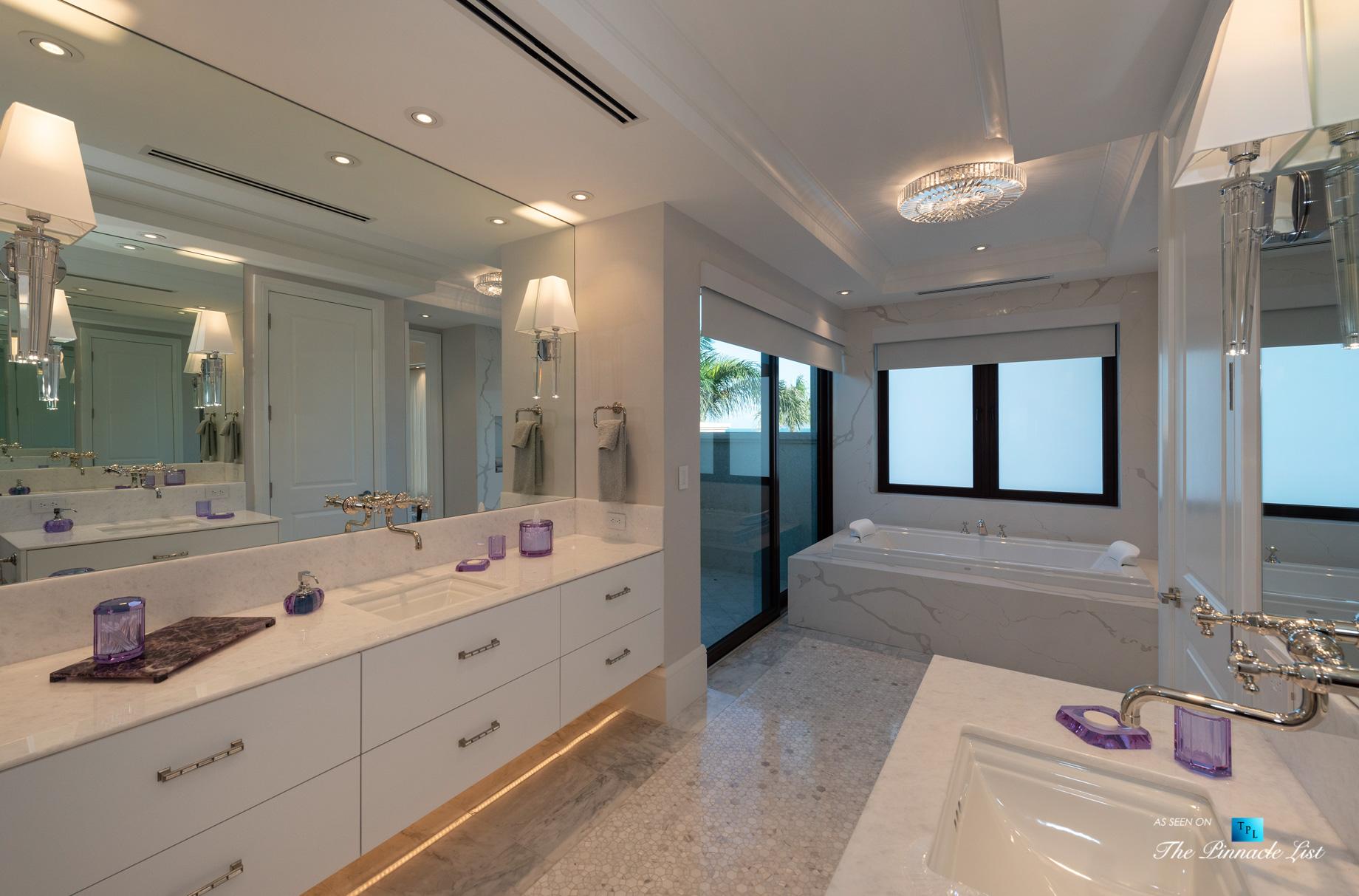 Ocean Reef Club Luxury Estate - 103 Andros Rd, Key Largo, FL, USA - Master Bathroom