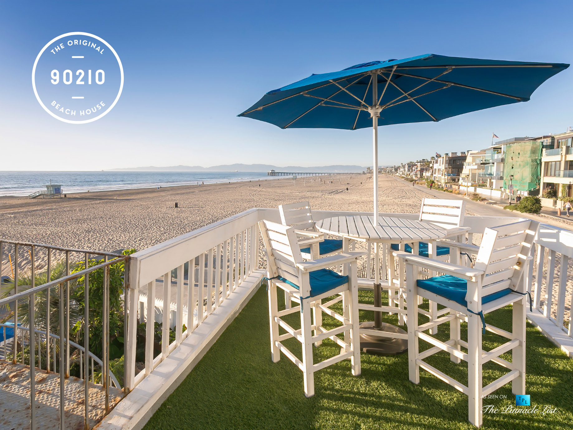 The Original 90210 Beach House – 3500 The Strand, Hermosa Beach, CA, USA – Beach View Deck