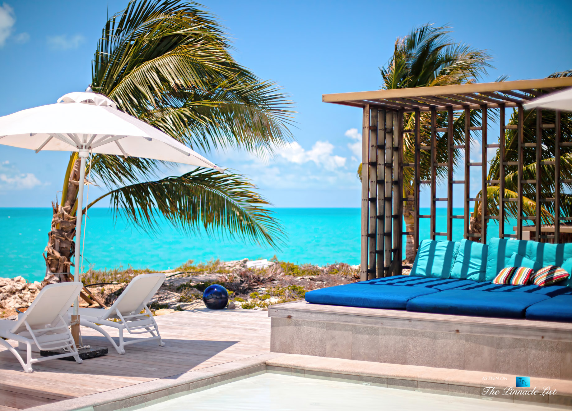 Tip of the Tail Luxury Villa – Providenciales, Turks and Caicos Islands – Pool Deck Ocean View