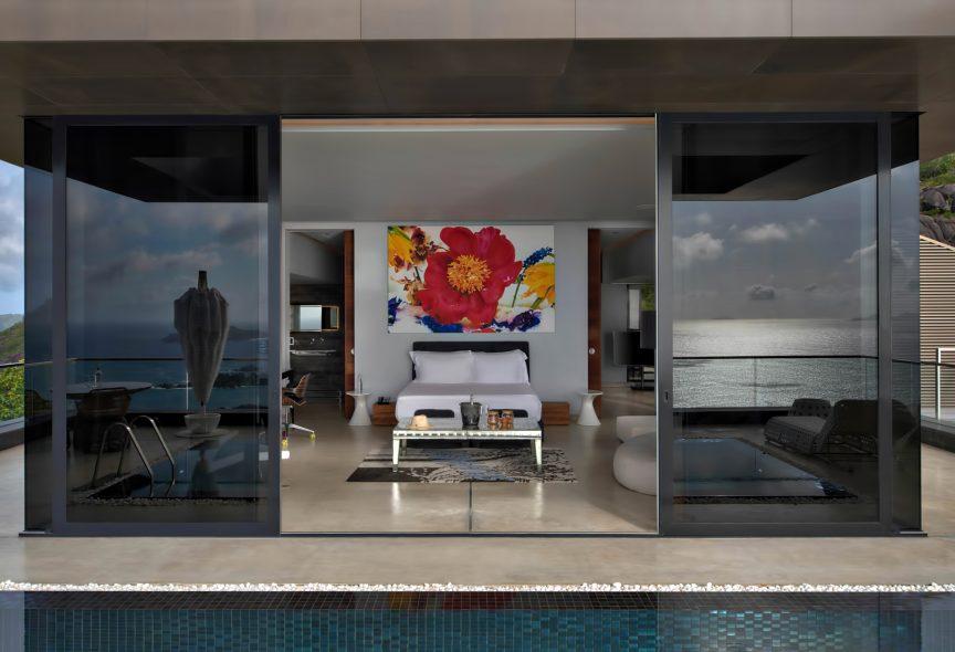 Six Senses Zil Pasyon Luxury Resort - Felicite Island, Seychelles - Private Four Bedroom Residence Master Bedroom