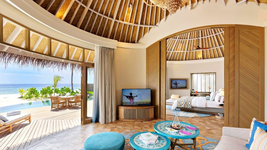 The Nautilus Maldives Luxury Resort - Thiladhoo Island, Maldives - Beach House Living Room