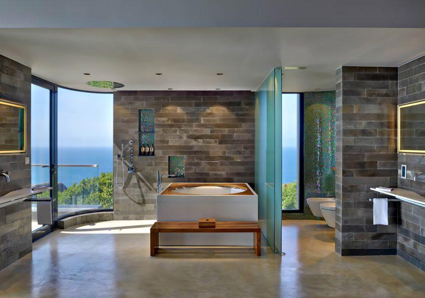 Six Senses Zil Pasyon Luxury Resort - Felicite Island, Seychelles - Private Four Bedroom Residence Master Bathroom