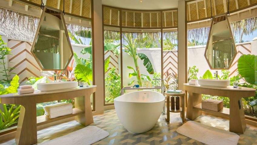 The Nautilus Maldives Luxury Resort - Thiladhoo Island, Maldives - Beach House Master Bathroom