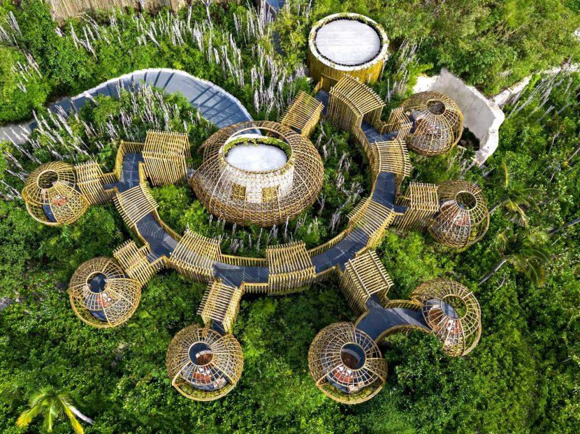 Waldorf Astoria Maldives Ithaafushi Luxury Resort - Ithaafushi Island, Maldives - Terra Restaurant Aerial
