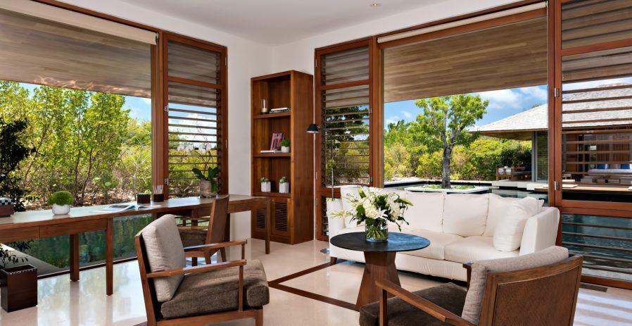 Amanyara Luxury Resort - Providenciales, Turks and Caicos Islands - 4 Bedroom Tranquility Villa Office Lounge