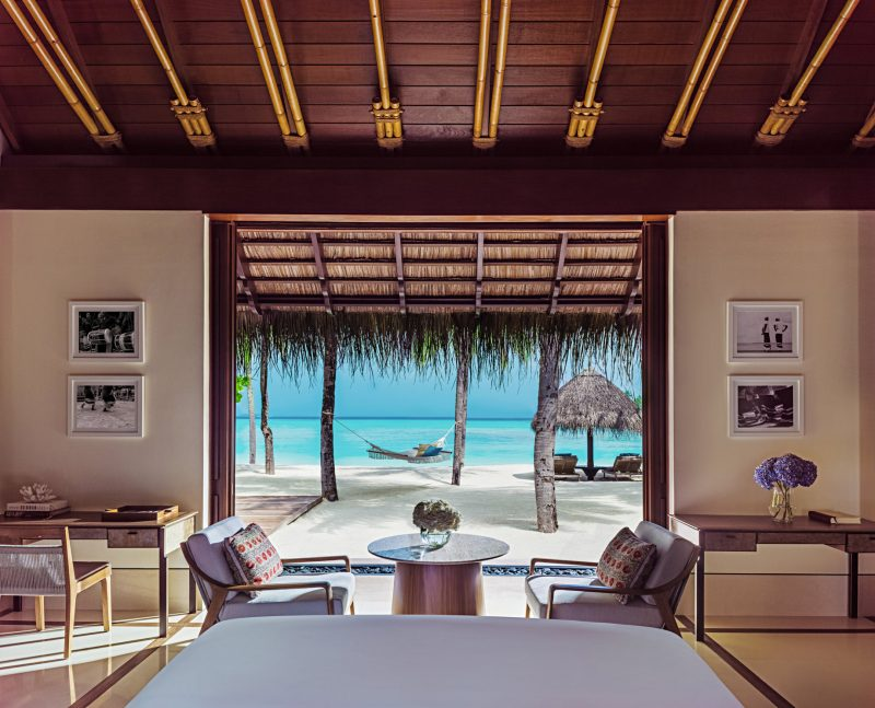 One&Only Reethi Rah Luxury Resort - North Male Atoll, Maldives - Grand Beach Villa Master Bedroom Oceanview