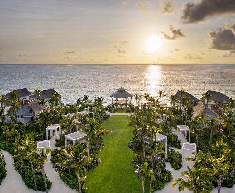 Waldorf Astoria Maldives Ithaafushi Luxury Resort - Ithaafushi Island, Maldives - Spa Garden Aerial View