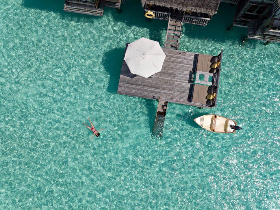 Gili Lankanfushi Luxury Resort - North Male Atoll, Maldives - Overwater Villa Deck Overhead View
