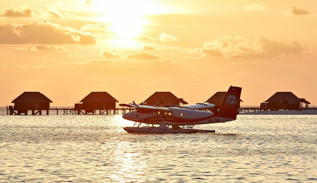 Waldorf Astoria Maldives Ithaafushi Luxury Resort - Ithaafushi Island, Maldives - Seaplane Sunset