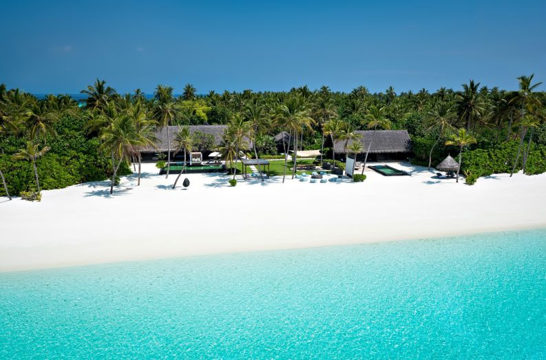 One&Only Reethi Rah Luxury Resort - North Male Atoll, Maldives - Grand Beach Villa Aerial